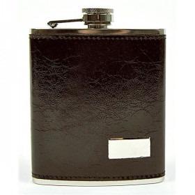 Mørkebrun Læder Lommelærke