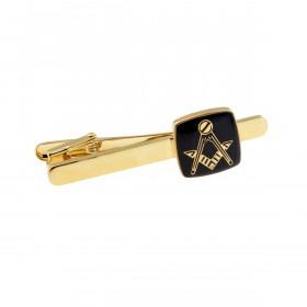 Guld Slipsenål med Frimurer Symbol