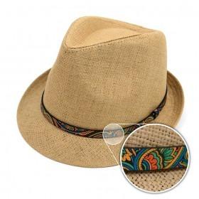 Trilby Fedora Hat Biscotti med Paisley Bånd