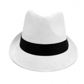 Trilby Fedora Hat Natur med Sort Bånd