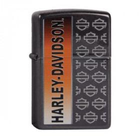 Black Metal Harley Davidson Zippo Lighter