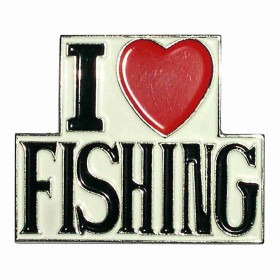 I love Fishing Hat Pin