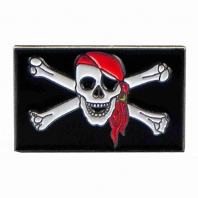Jolly Roger Pirat Flag Hat Pin