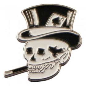 Smoking Skull Hat Pin