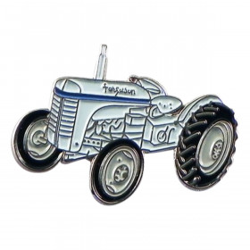 Farmers Classic Retro Tractor Metal Enamel Lapel Pin Badge