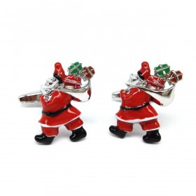Julemand og Gavesæk manchetknapper