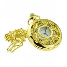 Guld Lommeur Filigran med Kæde