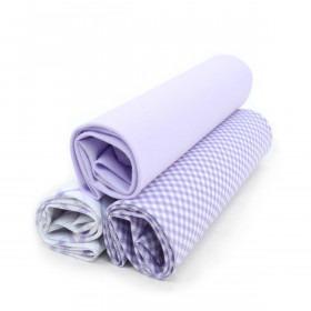 3 Pak Bomuldslommetørklæder - Lavendel Mix