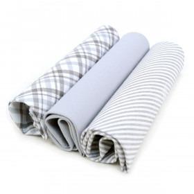 3 stk stof lomme tørklæder til mænd