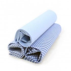 3 Pak Bomuldslommetørklæder - Blå Mix