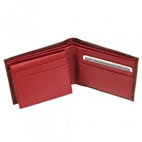 Bi-Fold Tegnebog i Bordeaux Læder