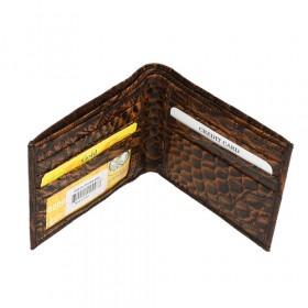 Bi-Fold Tegnebog i Brunt Læder