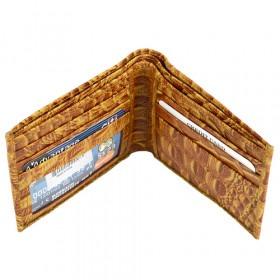 Bi-Fold Tegnebog i Lysebrunt Læder