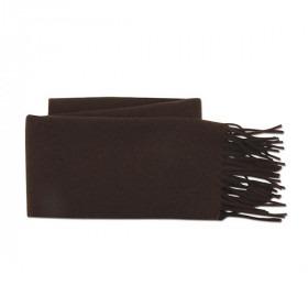 Mørkebrunt Uld Halstørklæde