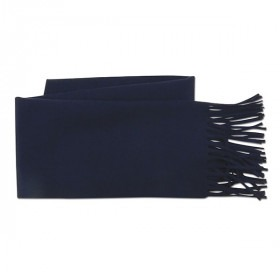 Mørkeblåt Uld Halstørklæde