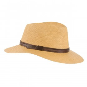 MJM Dude Panama Strå Hat - Biscotto