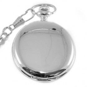 Sølv Lomme Ur med Kæde