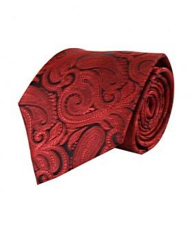 Klassisk Paisley Slips i Rød