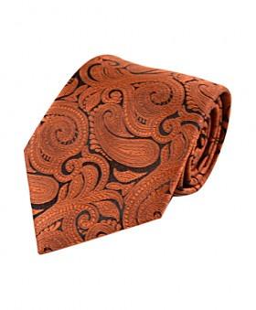 Klassisk Paisley Slips i Rust