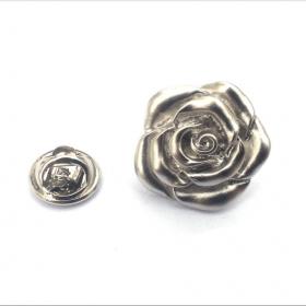 Revers Pin Silver Rose