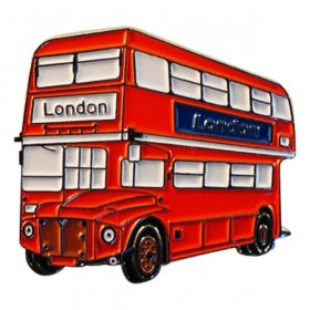 Rød London Bus Pin