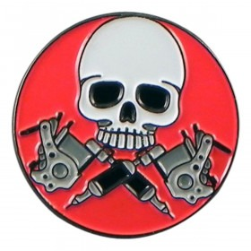 Dead Tattoo Artist Pin