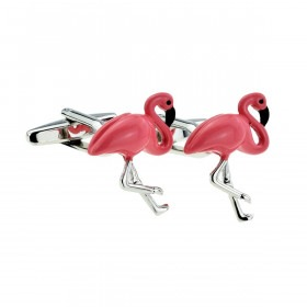 Pink Flamingo Cufflinks
