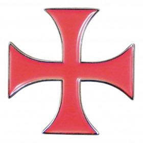 Rødt Knights Templar Kors Pin