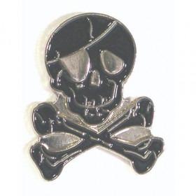 Sort Pirat Pin