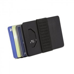 Sort Spine Wallet Titanium Kortholder