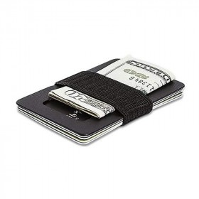 SPINE Wallet Titanium Kortholder & Pengeclips Sort