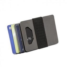 Charcoal Spine Wallet Titanium Kortholder