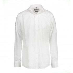 Hvid Slank Smoking Skjorte