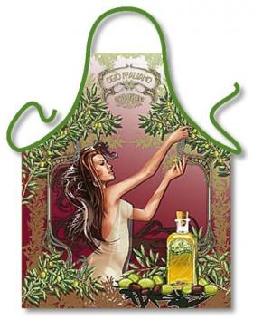 Romatisk Køkken Forklæde Oliven Olie
