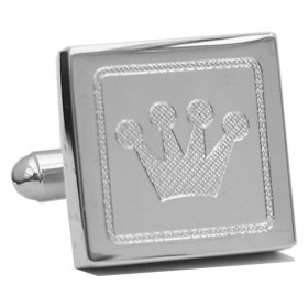 Designer Manchetknapper The Prince's Own Silver Crown
