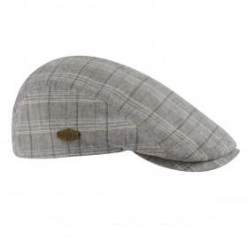 MJM Young Flat Cap -  Grey Check