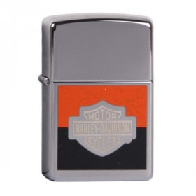Ægte Zippo Lighter Harley Davidson Black & Orange