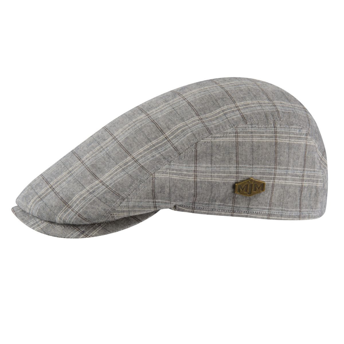 Buy MJM Young Flat Cap - Grey Check made of 100% Cotton in Grey ... 8f7e92e90c5